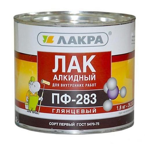 Лак ПФ-283 алкидный (Лакра Синтез) 1,8кг. (шт.)