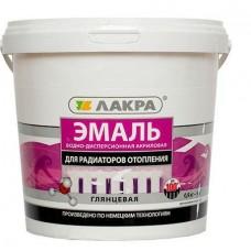Эмаль акриловая д/радиаторов бел. гл. 0,9кг/Лакра (шт.)