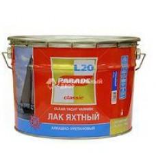 Лак яхтный алкидно-уретановый L 20 PARADE Матовый 2,5л (шт.)