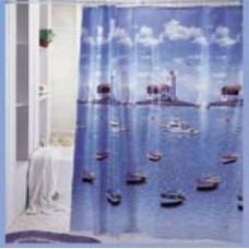 Штора «Гавань» д/ванной комнаты код 923 (шт.)