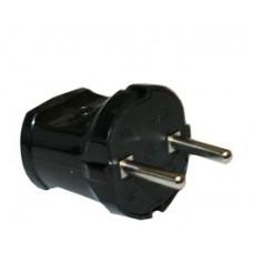 Вилка Макел 250В 2,5А черная (шт.)