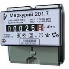 """Счетчик """"Меркур"""" 201,7 1т 1ф 220В 5-60А 1кл.т. (шт.)"""