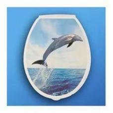Сиденье для унитаза МП с рисунком Дельфин (шт.)