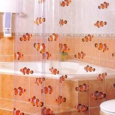 Штора в ванную комнату «Рыбки крупные» 911 (шт.)