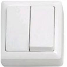 """Выключатель """"Wessen"""" ХИТ ВА56-232-б ОП 2-кл. белый (шт.)"""
