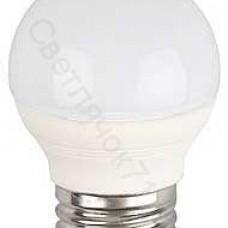 """Лампа светодиодная  ЭРА """"шар"""" мат. х/бел. LED smd Р45-7w-842-E27 (шт.)"""