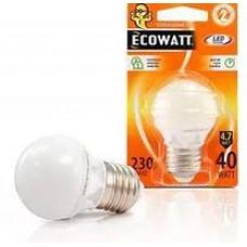 Лампа светодиодная ECOWATT A50 230В 4(30)W 2700K Е27  теплый бел.свет шарик (шт.)