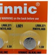 Батарейка 921 VINNIC G6 бл/10 (шт.)