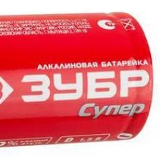 "Батарейка ЗУБР ""СУПЕР"" щелочная (алкалинов.) тип С 1,5В (59215-2С) (шт.)"