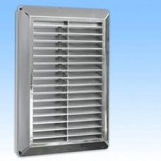 Решетка вентил. HARDI 14х21 наклонные жалюзи с сеткой металл. серебряный 01901 (шт.)