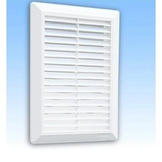 Решетка вентиляционная HARDI 14х21 наклонные жалюзи с сеткой FLAT 01905 (шт.)