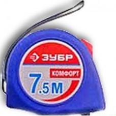 Рулетка Зубр Мастер КОМФОРТ корпус с резиновым напылением 7,5мх25мм (шт.)