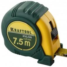 Рулетка Крафтол EXPERT с нейлоновым покрытием, 7,5м/25мм (шт.)