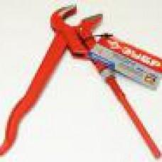 Ключ трубный рычажный ЗУБР Эксперт, изогнутые губки, цельнокован. Cr-V. №1, 1 (шт.)