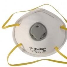 Полумаска фильтрующ. ЗУБР Эксперт коническая с клапаном, класс защиты FFP1 (11161) (шт.)