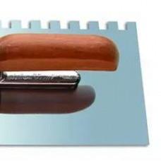 Кельма из нерж.стали, двухк.ручка,зуб 6х6 130х270 (шт.)