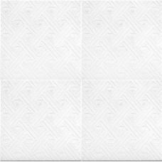 Плитка потолочная Лен классик белый в упаковке 2 кв.м (уп.)