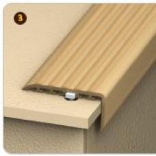 Порог для ступеней прорезинен. (с дюбель-гвоздями) 45х22мм 0,9м светло-серый (шт.)